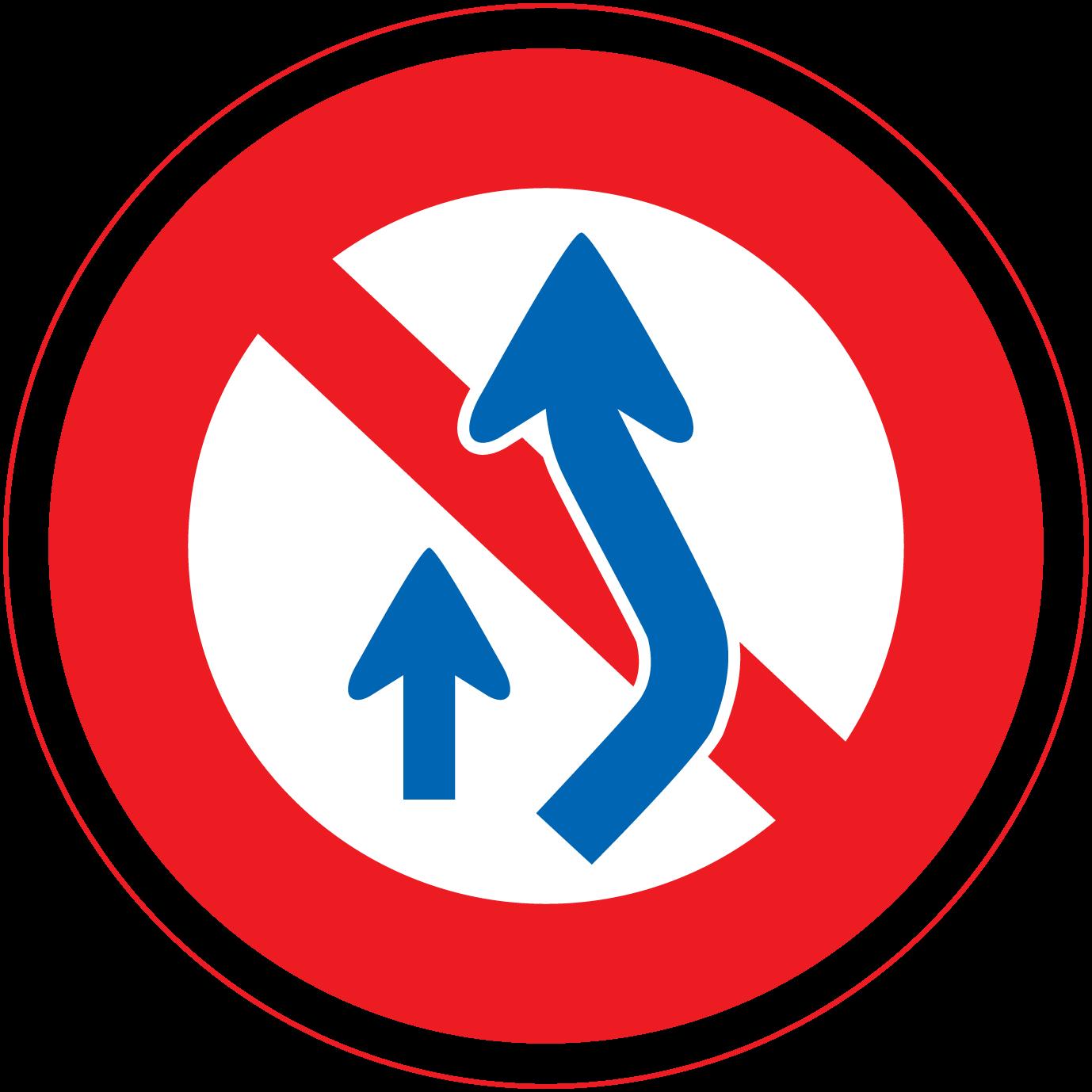 追越し標識