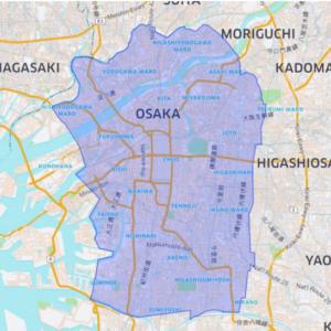 Uber Eats大阪のマップ