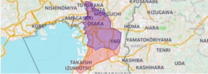 Uber Eatsの大阪の拡大エリア
